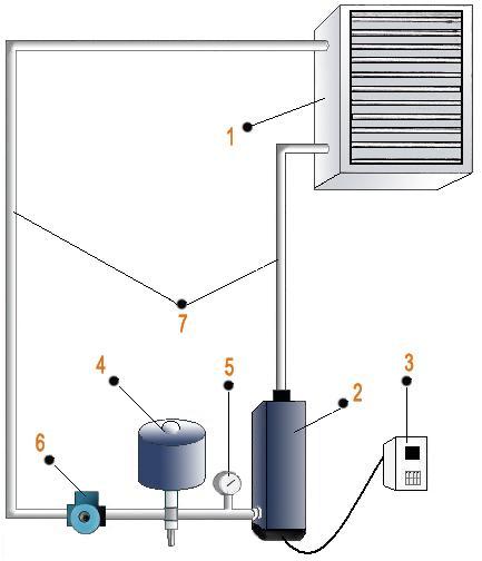 схема установки водовоздушной системы